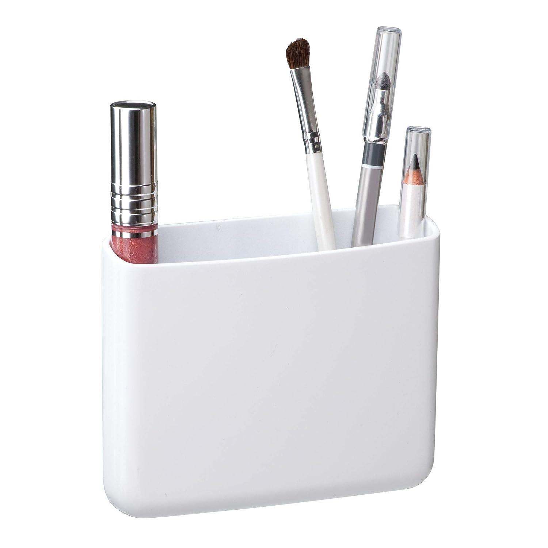 InterDesign - AFFIXX - Porta cepillos de Dientes y maquinillas de Afeitar - Grande - Blanco: Amazon.es: Hogar