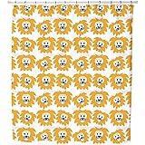 Uneekee Lion Heads Shower Curtain: Large Waterproof Luxurious Bathroom Design Woven Fabric