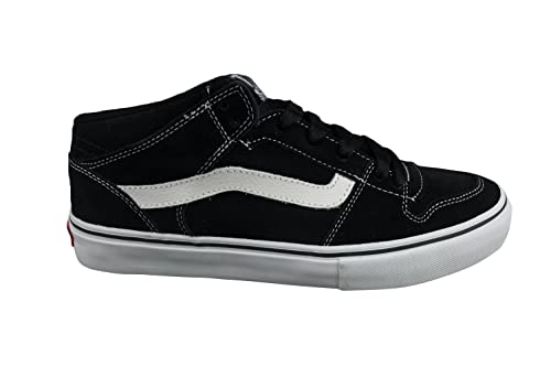 ae09039012fe55 Image Unavailable. Image not available for. Colour  Vans Mens Leather Black  White TNT 2 II Mid Skate Shoes Trainers