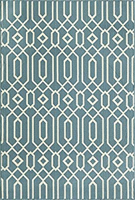 "Momeni BAJA0BAJ-3BLU1837, Baja Collection, 1'8"" x 3'7"", Blue"