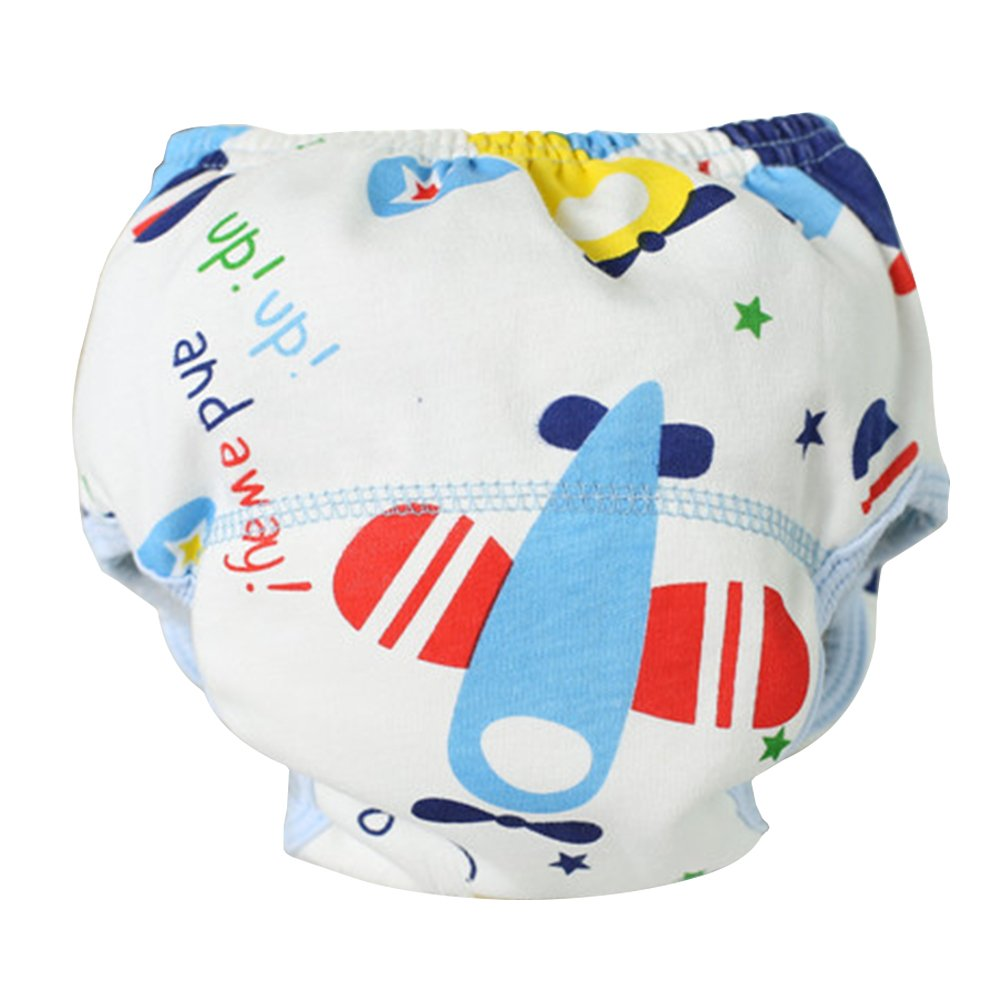 Gilroy 1pc Unisex Baby Cotton Traning Pant Reusable Washable Diapers Trousers (90, Style 1)