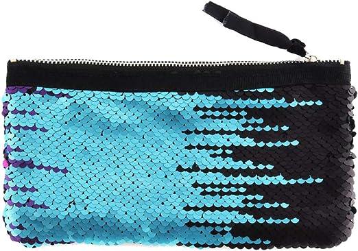 Da.Wa 1X Estuche de lápices para Estudiantes Color Azul y Negro 20 * 10 cm: Amazon.es: Hogar