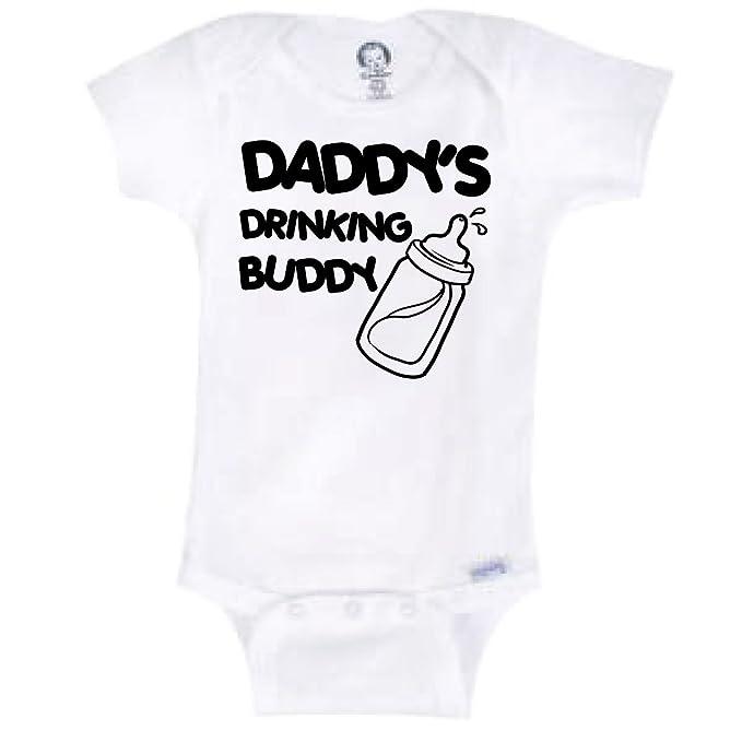 e21f5db77 Blakenreag Daddy's Drinking Buddy Funny Baby Onesie Novelty Bodysuit (0-3  Month)