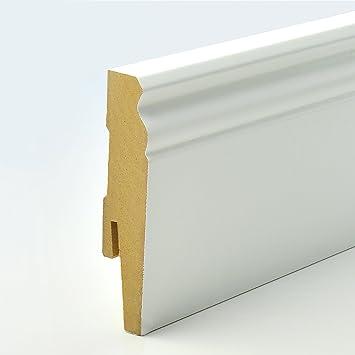 Fußleisten Weiß 2 5m sockelleiste mdf weiß profil hamburger höhe 90mm x breite