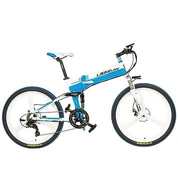 Extrbici xt-750 bicicleta eléctrica plegable 26 x 17 inch aleación de aluminio plegable marco