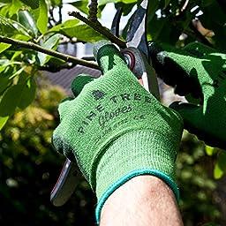 Pine Tree Tools Bamboo Working Gloves for Women and Men. Ultimate Barehand Sensitivity Work Glove for Gardening, Fishing, Clamming, Restoration Work - Large (1 Pack)