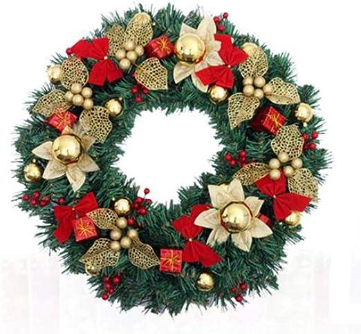 Navidad/Coronas y guirnaldas Decoración De Navidad De La Guirnalda De La Guirnalda De Navidad Decorativo De La Guirnalda De La Puerta Principal De La Decoración De La Guirnalda De La Navidad Conjunt: