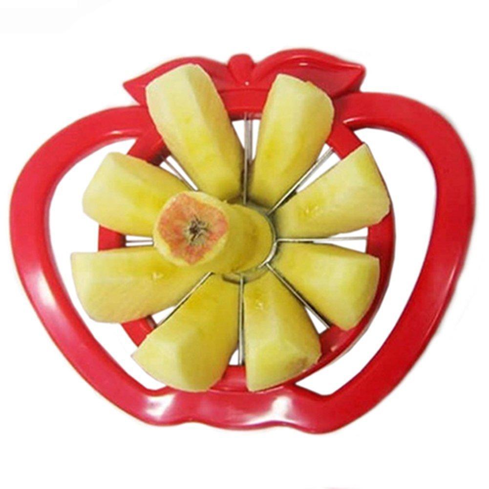 Apple Cutter Corer Multi-functional Fruit Slicer Stainless Steel Easy Cut Knife (Color Random) Sbolang