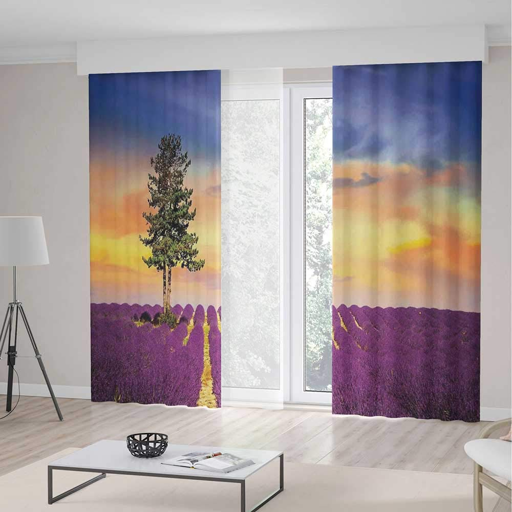 Amazon.com: iPrint Curtains for Living Room,Lavender,Home ...
