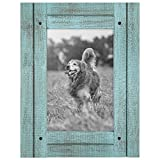 Americanflat 4x6 Turquoise Blue Distressed Wood Frame Made to Display 4 Deal (Small Image)