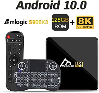 Android TV Box 10, 4GB 128GB Compatible con 8K 4K 3D, Amlogic s905x3 Dual- WiFi 2.4g / 5g Smart TV Box con Mini Teclado: Amazon.es: Electrónica