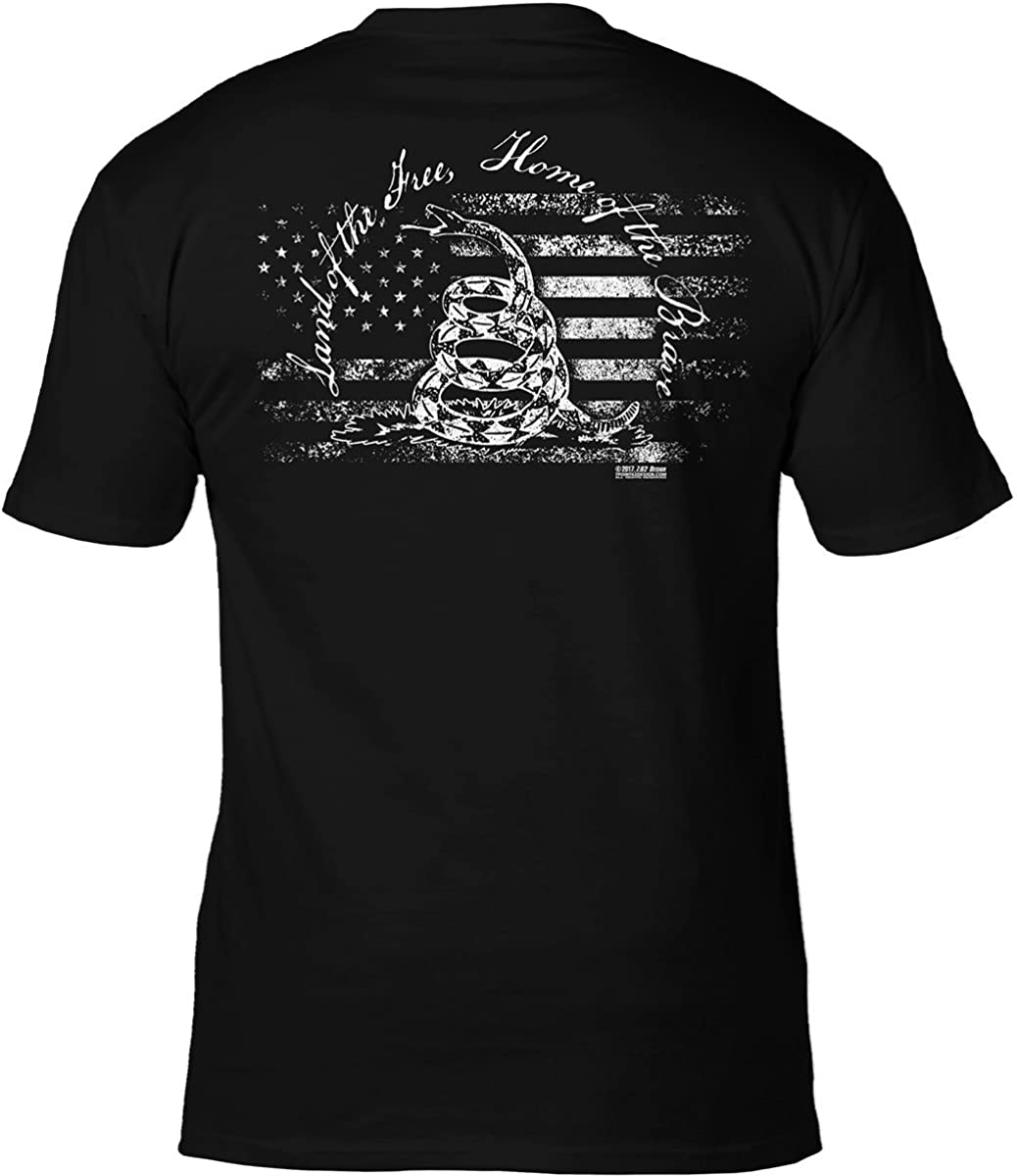 7.62 Design 'Land of The Free Home of The Brave' Patriotic Men's T Shirt