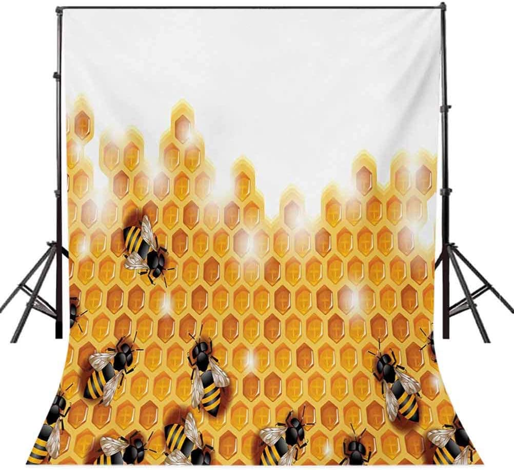 Love 8x10 FT Backdrop Photographers,Bike Illustration with Love Heart and Drops Modern Hipster Fashion Retro Artwork Background for Party Home Decor Outdoorsy Theme Vinyl Shoot Props Orange Black