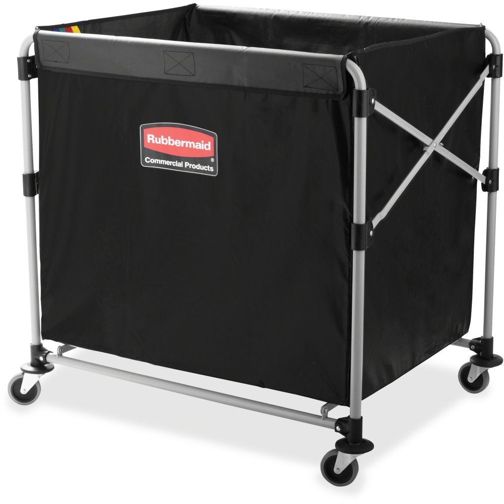 Rubbermaid 1881750 Collapsible X-Cart Steel Eight Bushel Cart 24 1/10w x 35 7/10d Black/Silver
