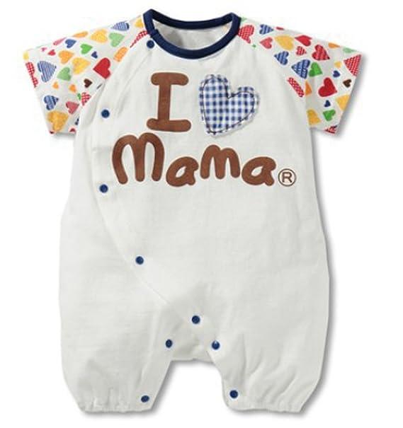 bcc63332d7 waboats bebé niño niña Verano I Love Mama Papa Body Suit Pelele Blu Mom 12M  DE   Amazon.es  Ropa y accesorios