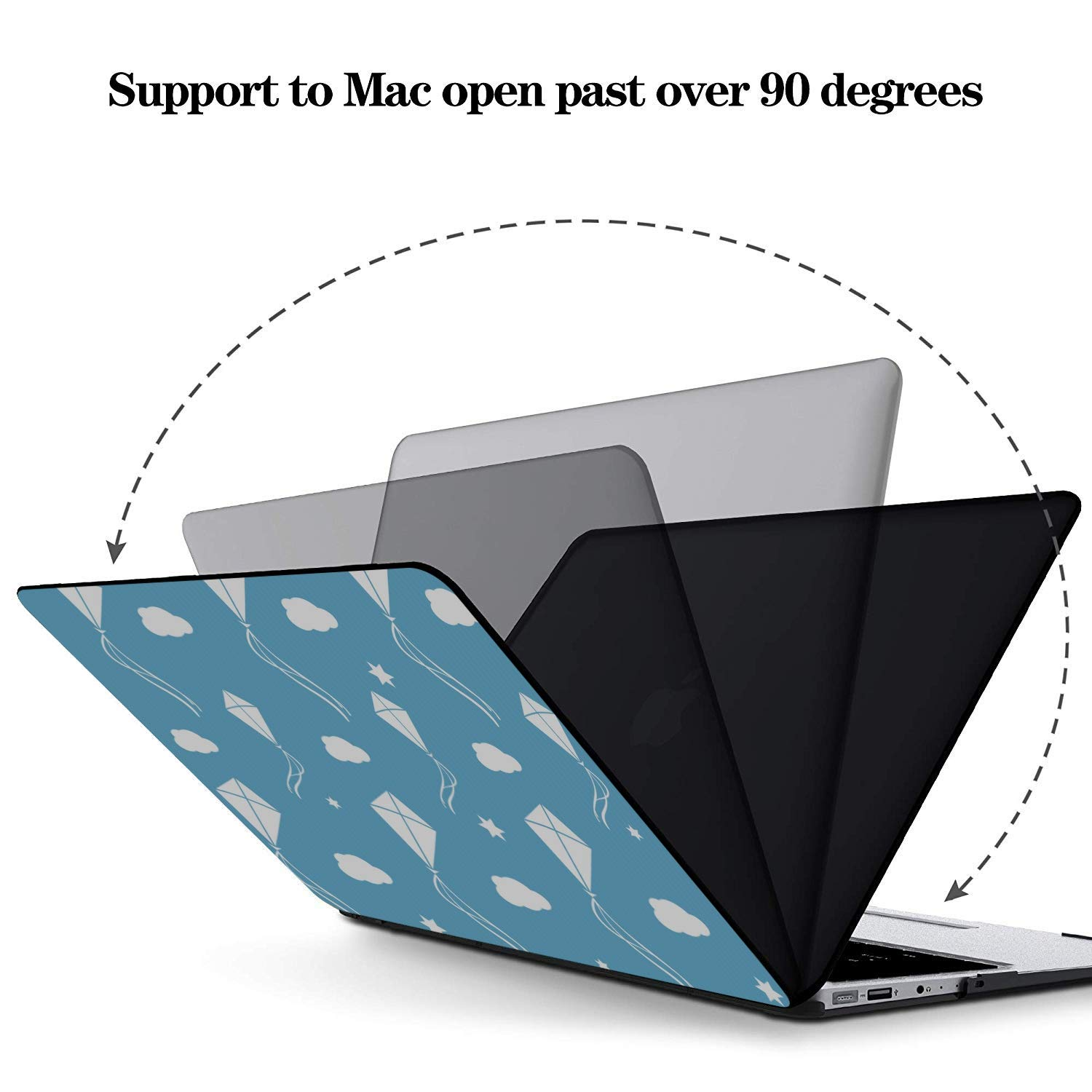 Cover for Laptop Spring Children Play Game Toy Kite Plastic Hard Shell Compatible Mac Air 11 Pro 13 15 13 Inch Laptop Case Protection for MacBook 2016-2019 Version