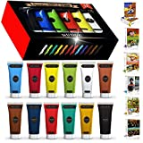 NUDGE Rembrandt Jumbo Acrylic Paint Studio - 12 Extra Large, 75 ml (2.53 Oz) Tubes - Best Selling Colors