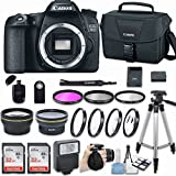 Canon EOS 70D DSLR Camera (Body Only) with Bundle - Includes 58mm HD Wide Angle Lens + 2.2x Telephoto + 2Pcs 32GB Sandisk SD Memory + Filter & Macro Kit & More Accessories