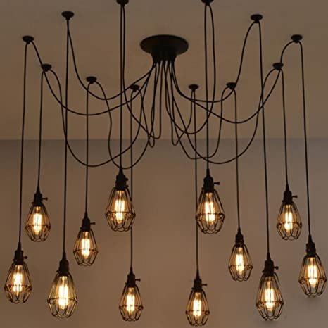 Swell Vintage Ceiling Lamp Sun Run Hanging Lighting Edison Multiple Wiring Cloud Hisonuggs Outletorg