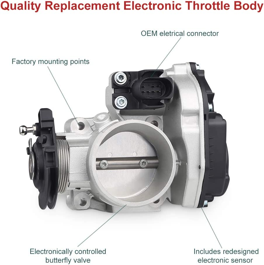 Electronic Throttle Body Assembly For 1997-2000 Audi A4 1998-2000 VW Passat Replace OE# 337-60550 058133063Q 058133063M 408237212008Z