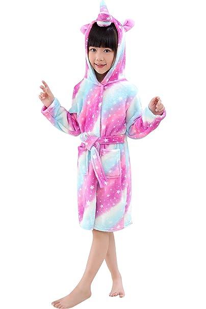Amazon.com: Niceko - Albornoz con capucha para niños y niñas ...