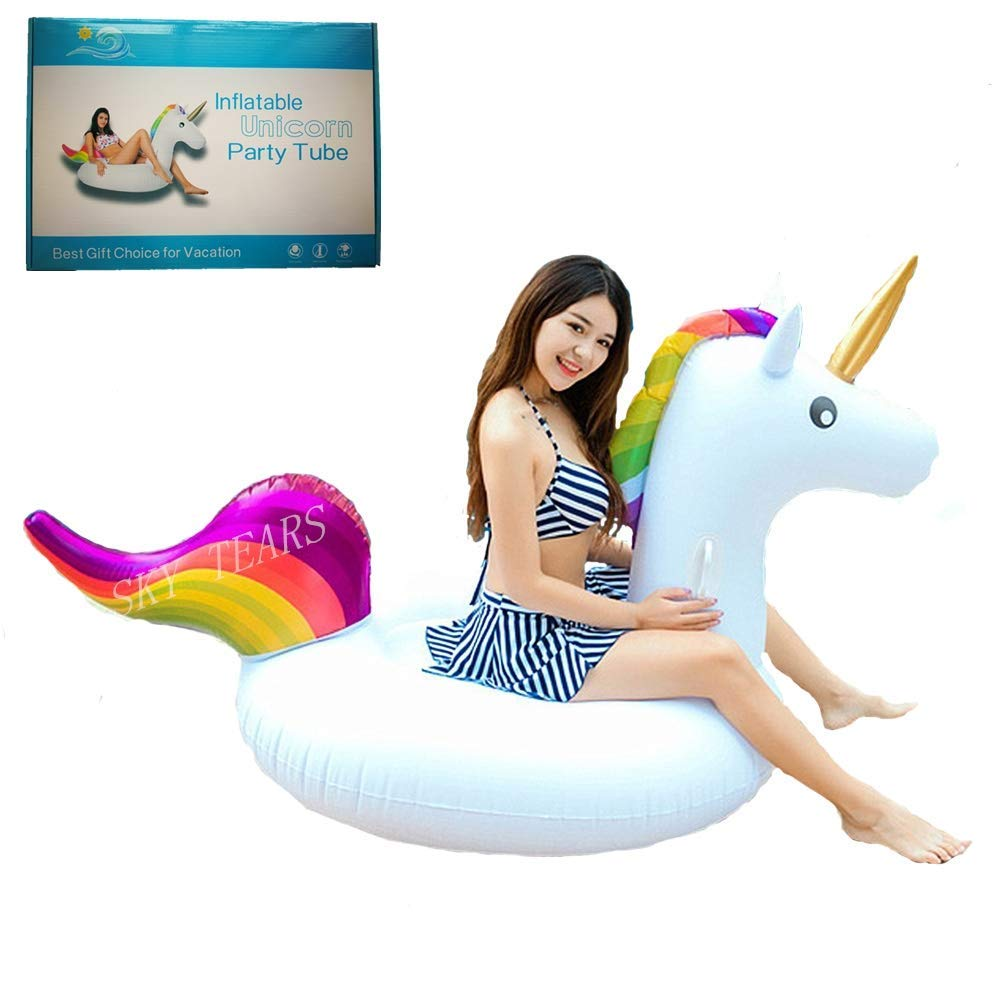 Flotador de Unicornio Hinchable Colchonetas Piscina Inflable Flotador unicornio Para Piscina al aire libre o Lounge: Amazon.es: Jardín