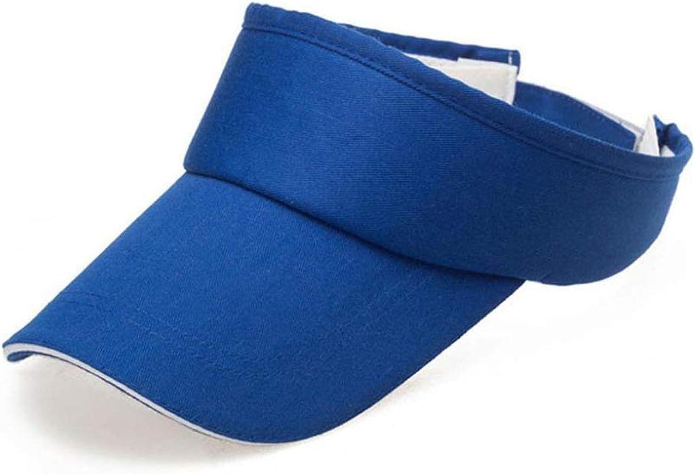 fantasticlife06 Men Women Summer Solid Visor Sun Plain Hat Casual Ajustable Empty Top Sunscreen Cap Cool Casquette,Blue