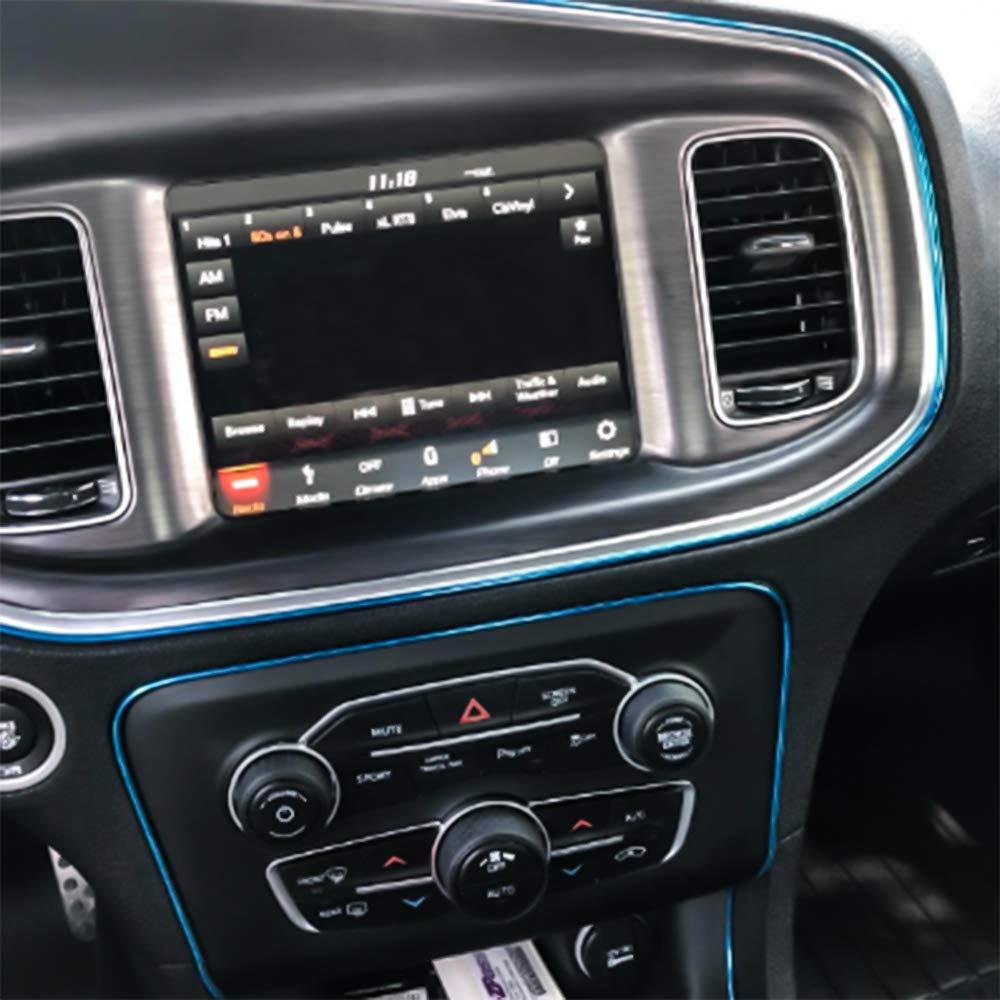 Senzeal 5M 3D DIY Automobile Car Moulding Strip for Automobile Car Interior Exterior Moulding Trim Decorative Line Strip Car Door Dashboard Silver