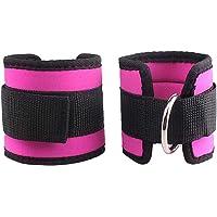 LIOOBO 2pcs Tobilleras Deportivas para Cable máquinas para Entrenamiento de piernas y glúteos en polea (Rosa)