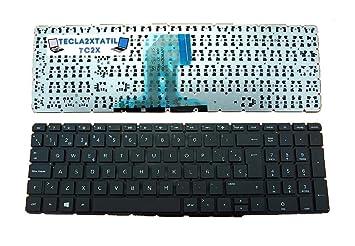 Teclado para PORTATIL HP 250 G4 (T6P08ES) EN ESPAÑOL SIN Marco Negro: Amazon.es: Electrónica