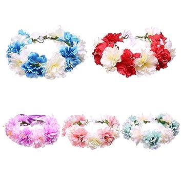 Manyo Floral Krone Blumenkranz Brautkranz Blume Haarband Haarreifen
