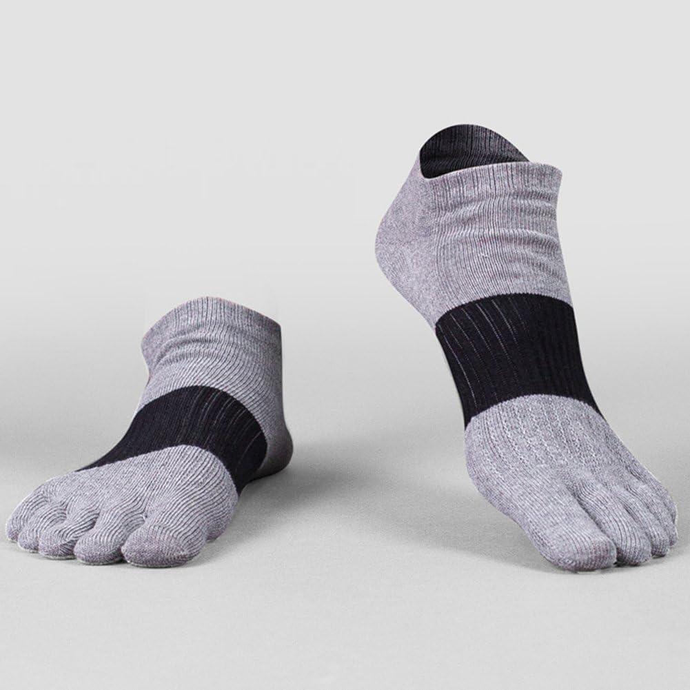 GINZIN Cotone sportivi cinque calzini della punta della barretta degli uomini di 5-6 paia