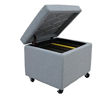 Great Cam Living Pembroke File Storage Ottoman With Wheels (20u0026quot; Wx 17u0026quot;  Dx 17u0026quot