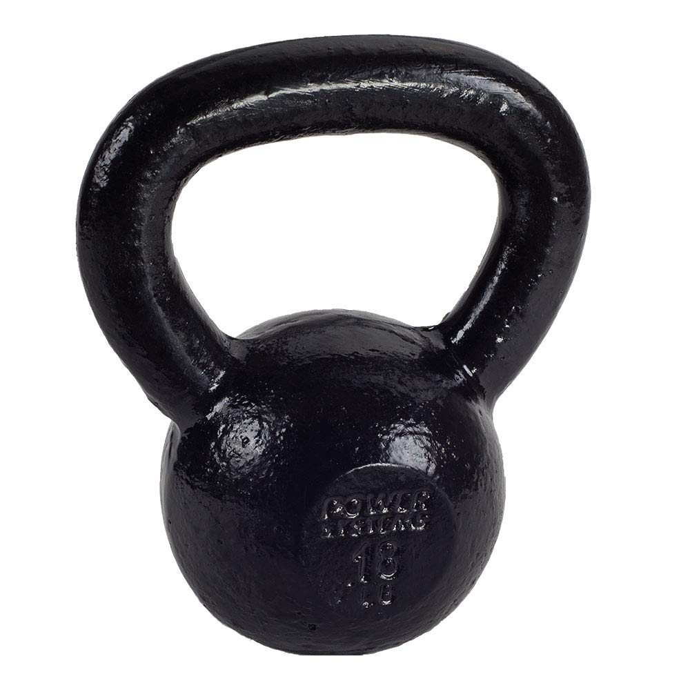 Power Systems Kettlebell, 18 Pounds, Black (50207)
