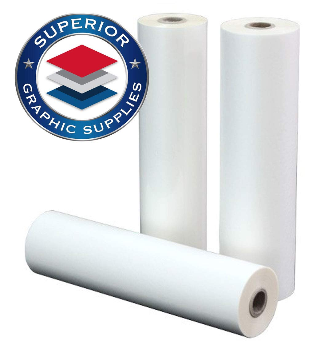 Superior Graphic Supplies PET Laminating Film Roll Premium Quality - 5 Mil(0.005'') Thick - 2P (27'' x 200') by Superior Graphic Supplies