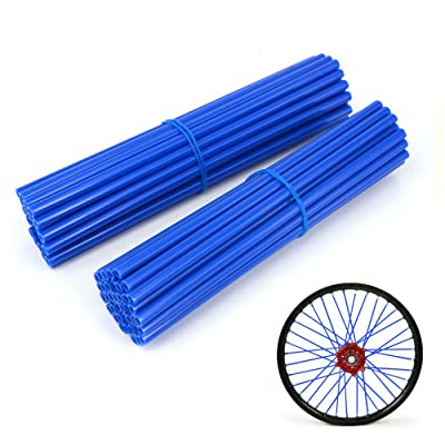 "JFG RACING 72 Pcs Blue Motorcycle Spoke Covers Guards For 19""-21"" Rims Yamaha YZ250 YZ250F YZ450 YZ450F WR250 WR250F WR450 WR450F: Automotive"