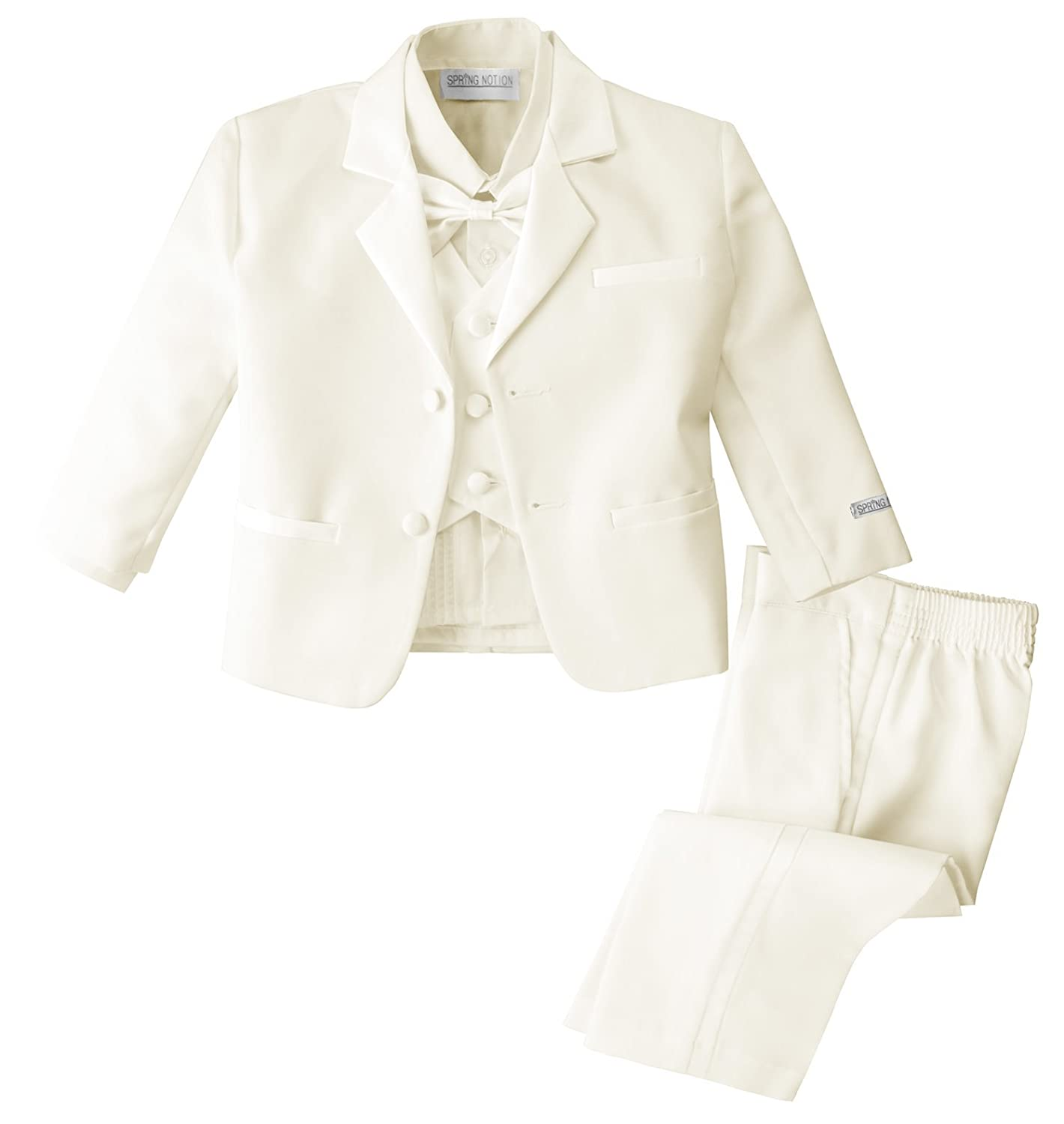 Spring Notion Baby Boys' Ivory Classic Fit Tuxedo Set, No Tail ERF202-SNB-202.IV
