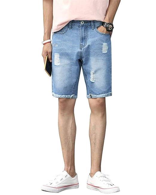 diversificado en envases últimas tendencias de 2019 vista previa de Lanceyy Hombres Jeans Bermuda Hombre Short Cortos Jogger ...