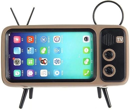 Home Portable Audio Speaker Mini Speaker Retro TV Speaker with Phone Stand Holder Radio Bluetooth Speaker Wireless Portable Audio Speakers Wgch Bluetooth Speaker