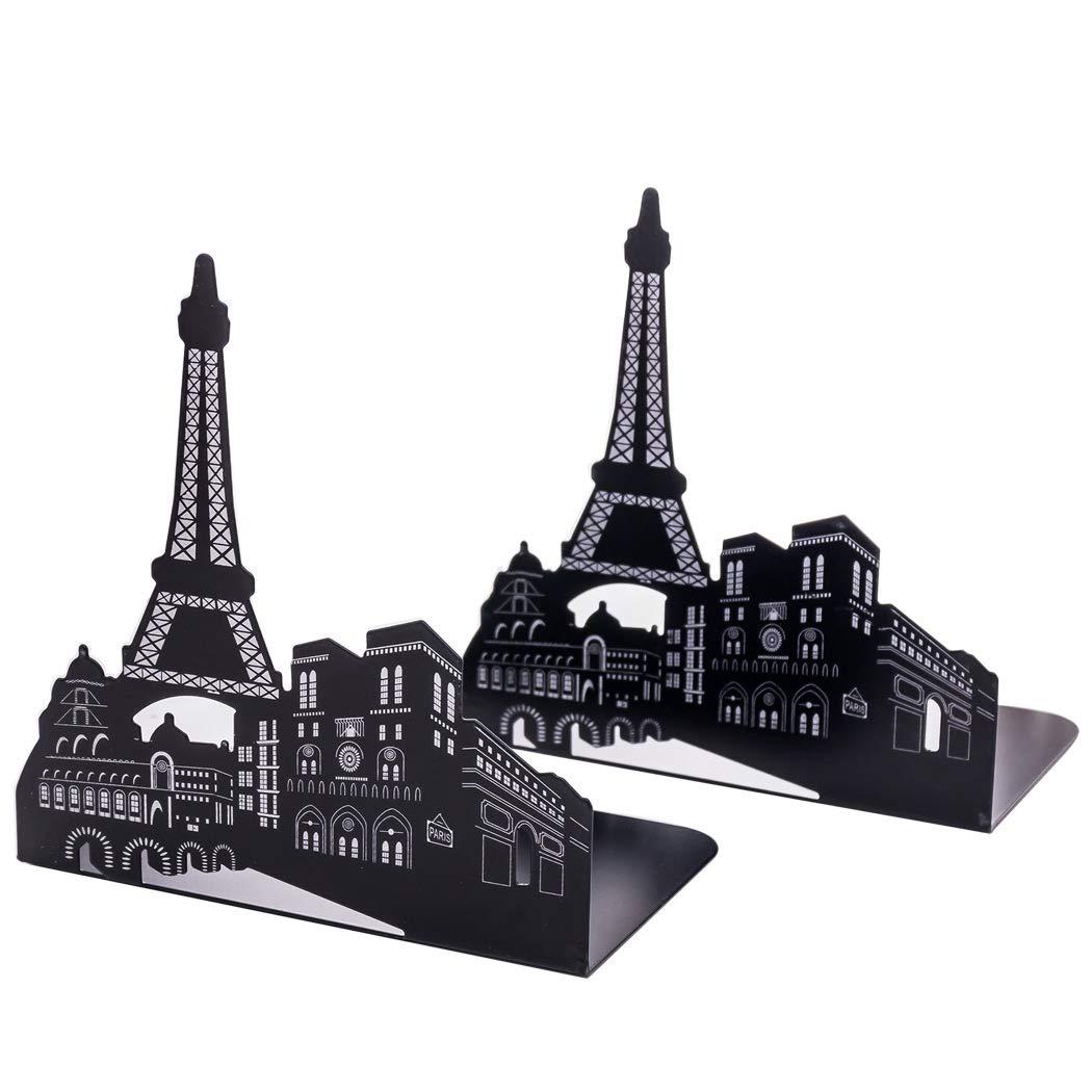 torre eiffel nero 1 paio sipliv fermalibri in acciaio universale economia titolare stand book rack desk fermalibri