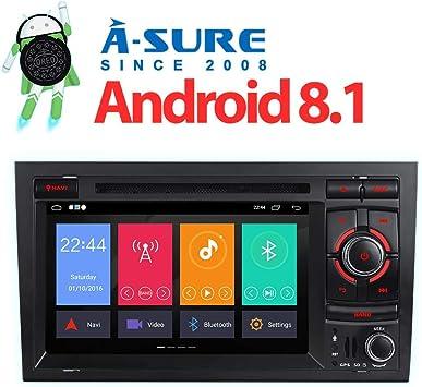 A de Sure 7 DVD GPS Android 8.1/8.0 Auto Radio Soporta 4 G LTE OBD2