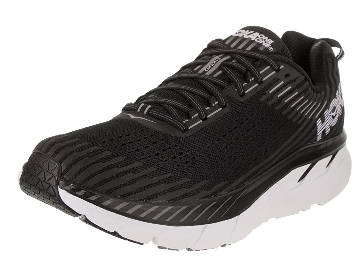 Hoka One One Clifton 5 Running Shoes Men Black/White 2018 Unidad Sport Guantes 42 2/3 EU