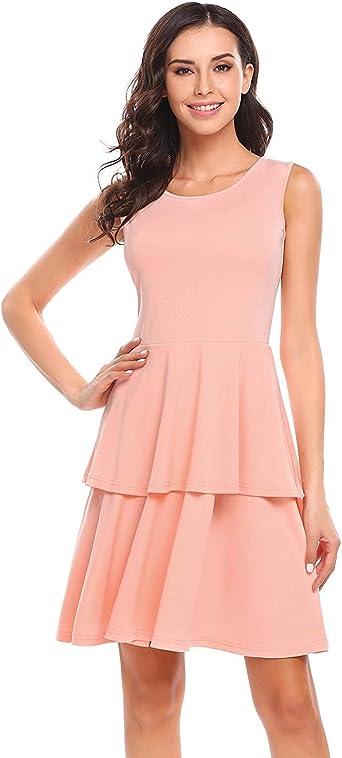 Damska letnia sukienka z dżerseju, w stylu Tank, bez rękawÓw, plisowana, na imprezę, modna, w stylu Completi, minisukienka koktajlowa, wieczorowa - s: Odzież
