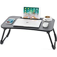 Laptop Desk Newvante Bed Table Tray for Eating Writing Drawing Foldable Desk with iPad Slots for Adults/Students/Kids…