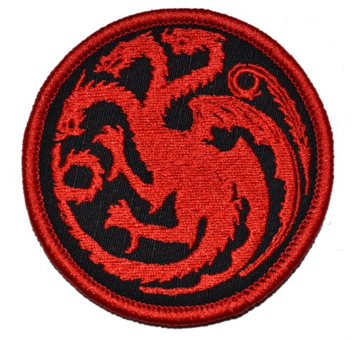 Targaryen Dragon - Game of Thrones 3in Diameter Patch with F