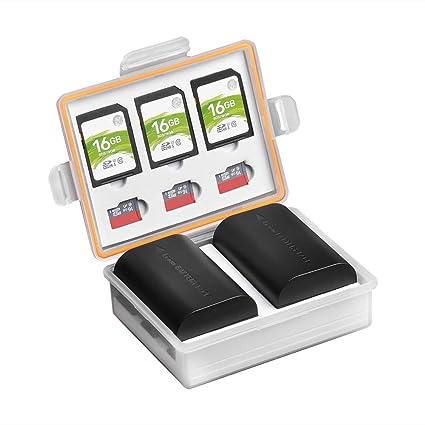 PowerTrust - Caja de batería para cámara réflex Digital y Tarjeta ...