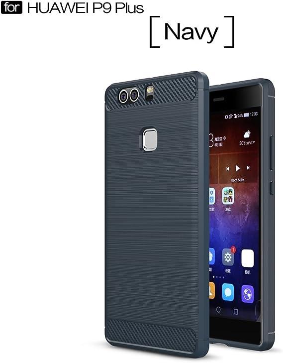 RUIST Funda Huawei P9 Plus,Ultra Delgado Metal Cepillado Prueba de Golpes Silicona Suave Teléfono Móvil Estuche Cubierta Carcasa Protectora Fundas para Huawei P9 Plus: Amazon.es: Electrónica