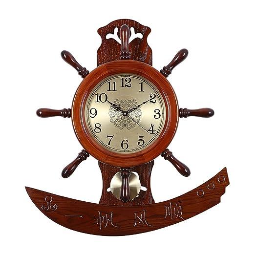 Amazon.de: Unbekannt Wanduhr Chinesische Art Kreative Rudder Clock ...