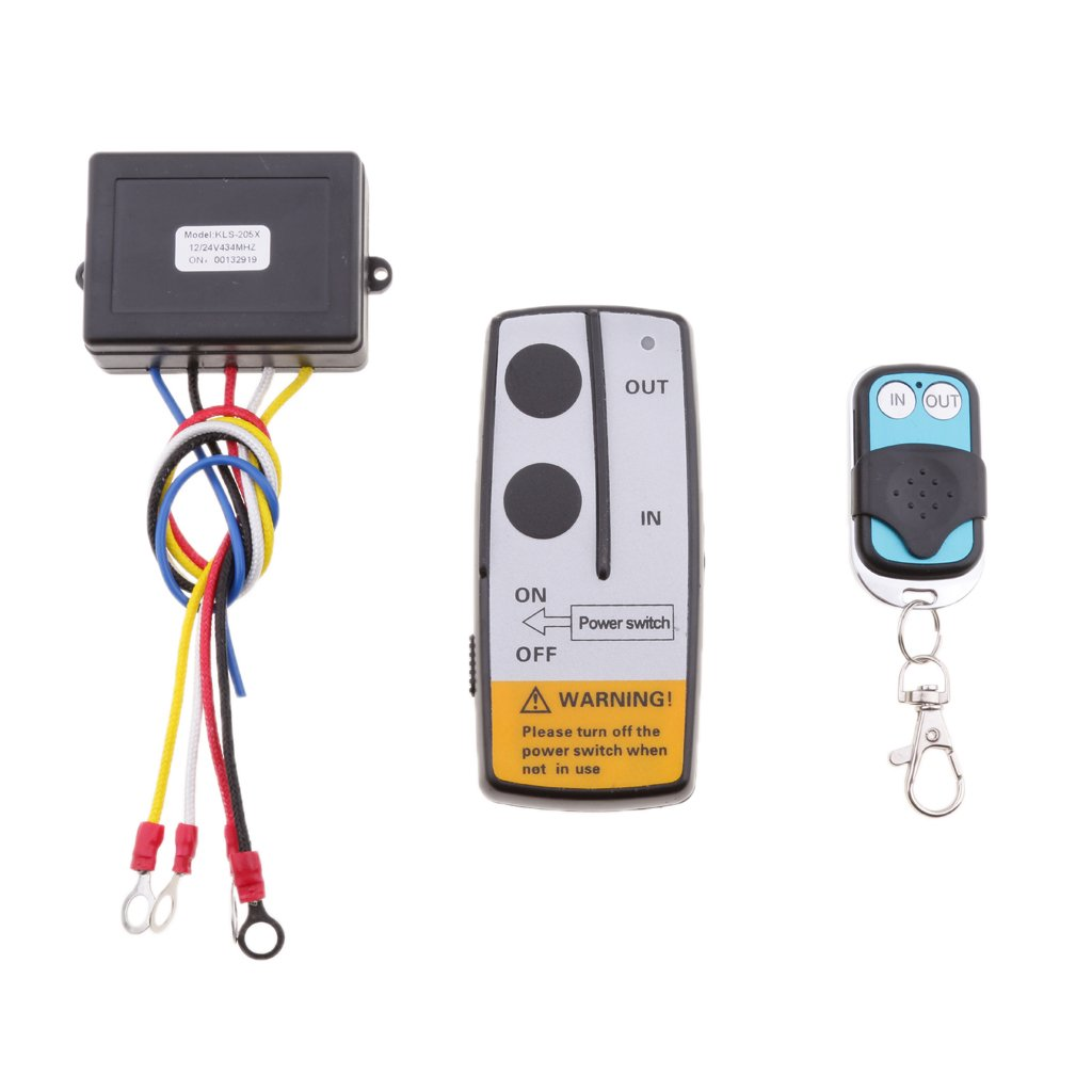 D DOLITY Auto Replacement 12V Wireless Winch Remote Control Kit for Car Vehicles KLS-205//2