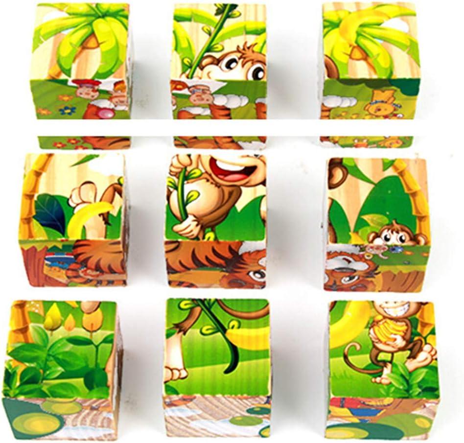 Webla Rompecabezas tridimensional 3D Juguete educativo Aprendizaje Rompecabezas para adultos Juego de rompecabezas Juguetes divertidos Juguetes educativos Regalo(D)